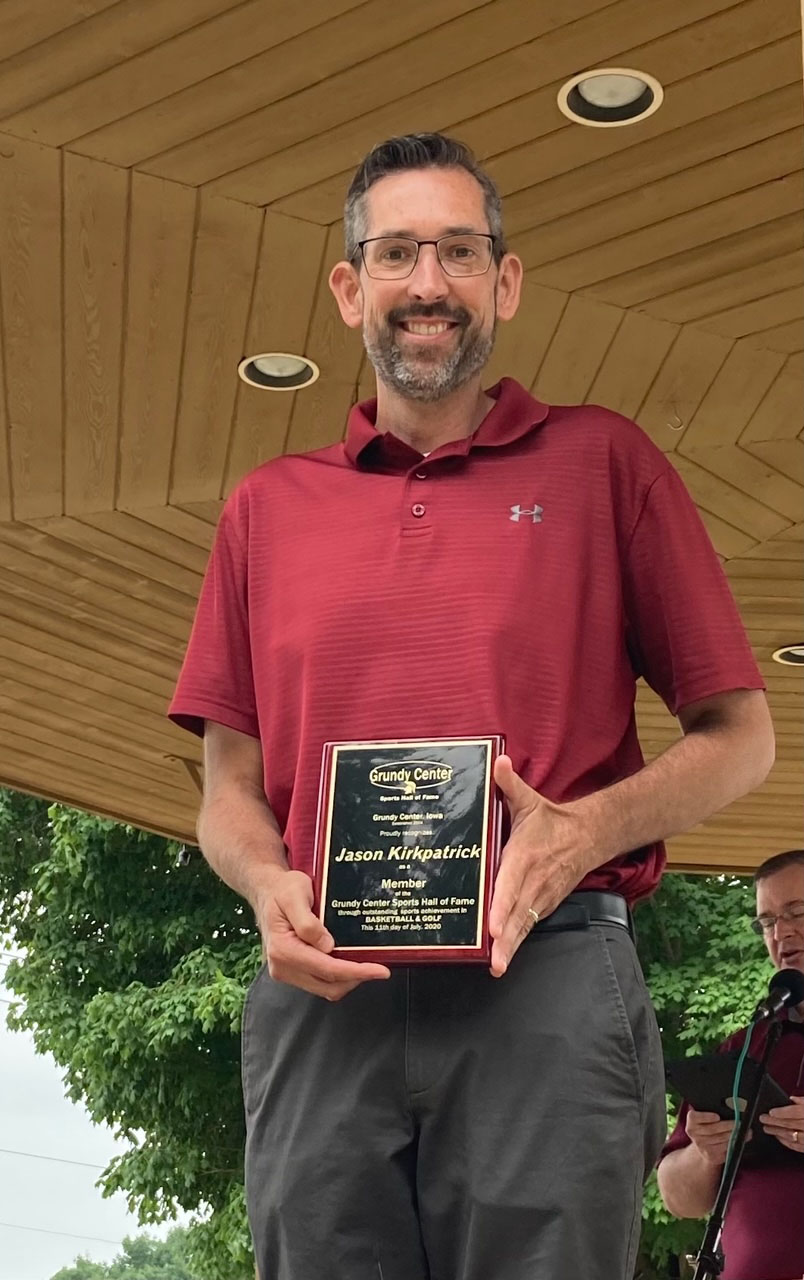 Jason Kirkpatrick was inducted into the Hall of Fame in honor of his accomplishments in basketball and golf.