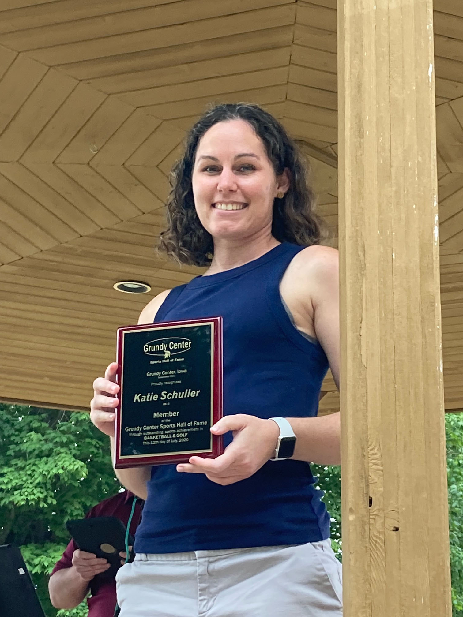 Katie Schuller was inducted into the 2020 Hall of Fame class for her accomplishments in basketball and golf.